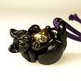 124-3黒猫ペンダント